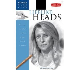 ספר ללימוד ציור פנים וראש בעפרונות
