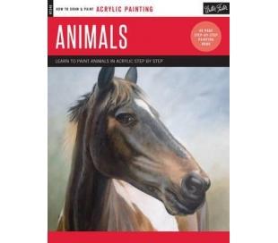 ספר ציור באקריליק שלב אחר שלב חיות