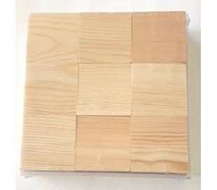 מארז 9 קוביות עץ 6*6סמ במסגרת עץ
