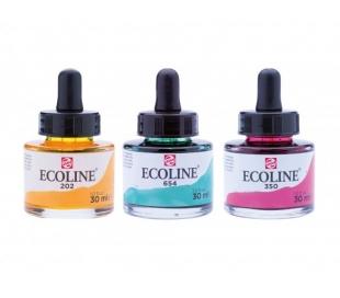 אקוליין ECOLINE דיו על בסיס מים / צבעי מים  -  60 גוונים
