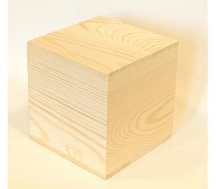 קובית עץ גדולה 10 סמ