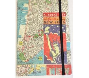 יומן מעוצב עם סגירת גומי - ניו יורק