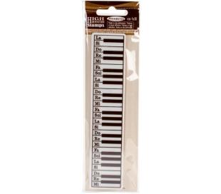 חותמת גומי HD - בורדר מקלדת פסנתר 18 *4 סמ