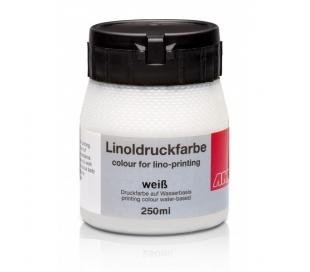 צבע הדפס לינונאום לבן 250 מל