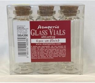 מארז 6 בקבוקי זכוכית גדולים - 8 סמ
