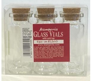 מארז 6 בקבוקי זכוכית קטנים - 5 סמ