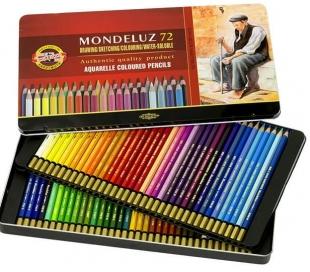 סט עפרונות אקוורל קוהינור מקצועיים ב 72 גוונים