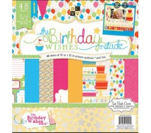 בלוק 48 ניירות קארדסטוק לעיצוב 30X30 יום הולדת