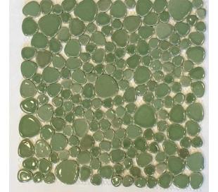 אבני פאבל ירוקים מקרמיקה בגדלים שונים
