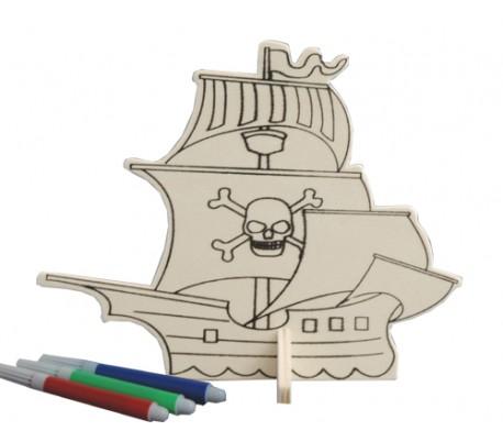 דמויות עץ ליצירה - ספינת הפיראטים
