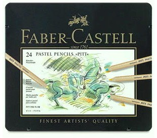 סט עפרונות פסטל מקצועיים פאבר קסטל פיט ב 4 גדלים