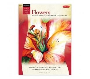 ספר ללימוד ציור בצבע אקריליק ושמן - פרחים