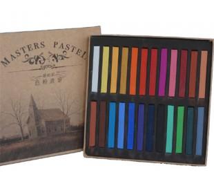 סט גירי פסטל יבש צבעוני 24 מאריס