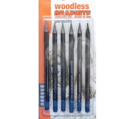 סט עפרונות גרפיט נטול עץ 6 עוביים