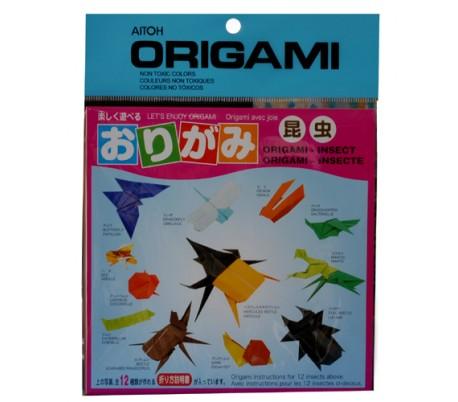 נייר אוריגמי לקיפולי דמויות חרקים