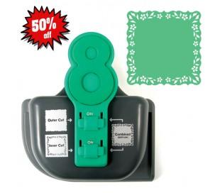 מכשיר חיתוך לדף 30*30 פרחוני ירוק
