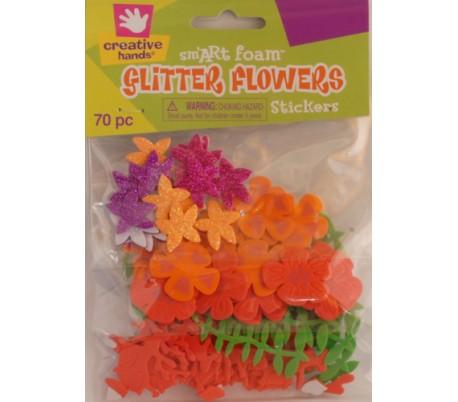 מדבקות סול נוצצות פרחים וגבעולים