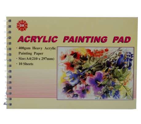 בלוק לציור עם צבעי אקריליק (ב 2 גדלים)