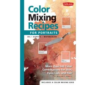 ספר מתכונים לערבוב צבעים ויצירת גוונים - פורטרייטים