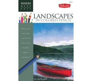 ספר ללימוד ציור בעפרונות צבעוניים - נופים
