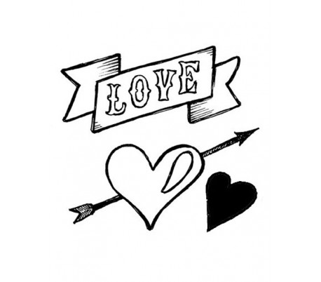 חותמות סיליקון לעיצוב אהבה מהלב 5*7 סמ