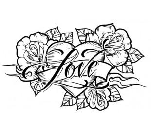 חותמת אקרילית באהבה 7*11 סמ