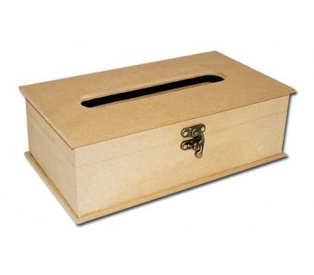 קופסת עץ גדולה למטפחות נייר טישו