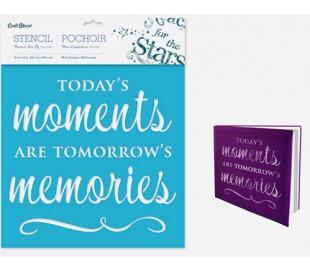 שבלונה 30*30 משפטי השראה  הרגעים של היום הם הזכרונות של מחר
