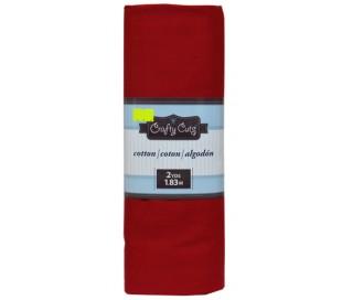 בד כותנה צבעוני אדום 180*110 סמ