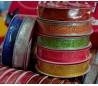 סט 2 סרטי בד צבעוני מעוטר בשני עוביים