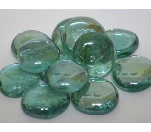אבני זכוכית נגצים גדולים טורקיז שקוף 200 גרם