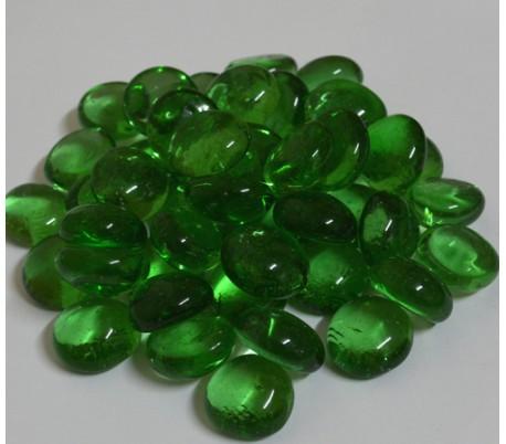אבני זכוכית נגצים קטנים ירוק שקוף 200 גרם