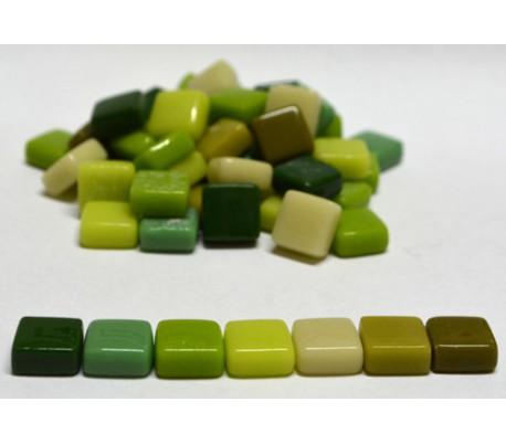 אבני פסיפס ספרדי קטן 250 גרם גווני ירוק