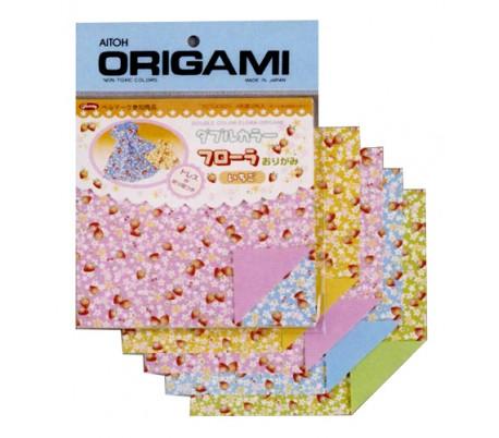 נייר אוריגמי דו-צדדי בעיטור תותים