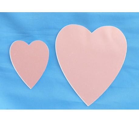 מראות אקריליות בצורת לב ליצירה במארז 5 יח
