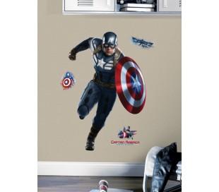 מדבקת קיר קפטן אמריקה גיבור העל  -ענקית