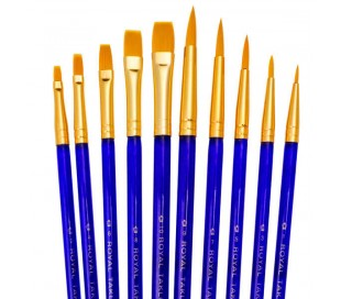 מכחולים לציור -סט 10 עם שיער טאקלון