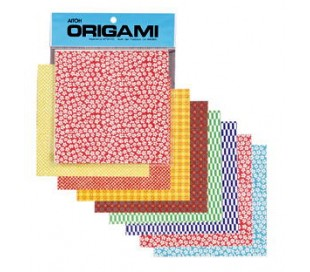 אוריגמי מנייר אורז פרחוני צבעוני