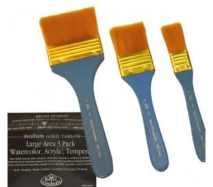 מברשות צבע איכותיות - סט 3 גדלים בקשיחות שיער בינונית