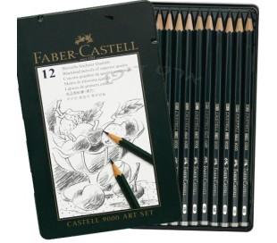 ח. סט 12 עפרונות רישום מקצועי פאבר קאסל