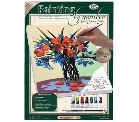 ערכת ציור לפי מספרים - זר פרחים