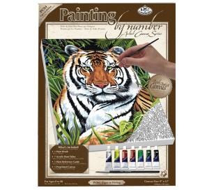 ערכת ציור לפי מספרים - נמר
