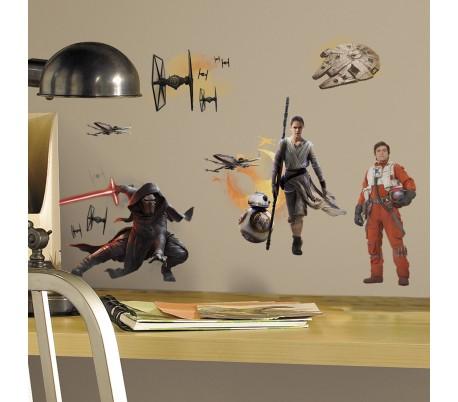 מדבקות קיר גיבורי הסרט מלחמת הכוכבים 7