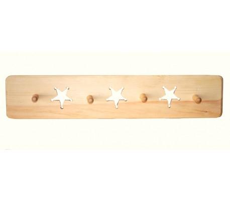 קולב עץ עם כוכבים