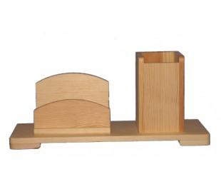 מתקן כרטיסי ביקור מהודר מעץ