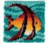 ערכת אריגת צמר 30*30 סמ - דג טרופי