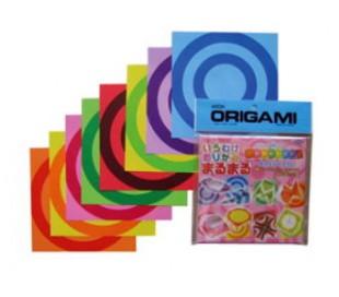 נייר אוריגמי צבעוני עם הדפסי עיגולים