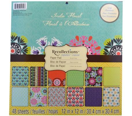 בלוק 48 ניירות עיצוב 30X30 עבים - פרפר ופרח