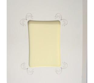 אלבום תמונות גדול בלבן עם חלון