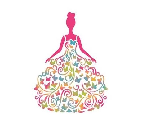 """שבלונות גדולות - נסיכת הפרפרים 21 * 30 ס""""מ"""